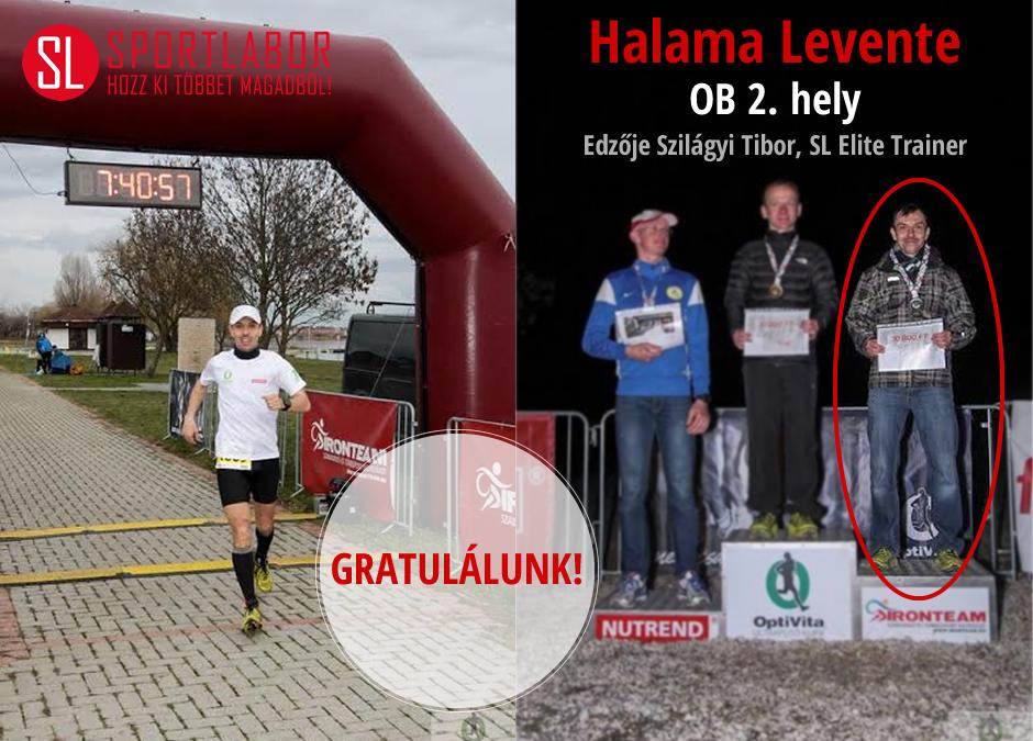 Halama Levente második lett az OB-n